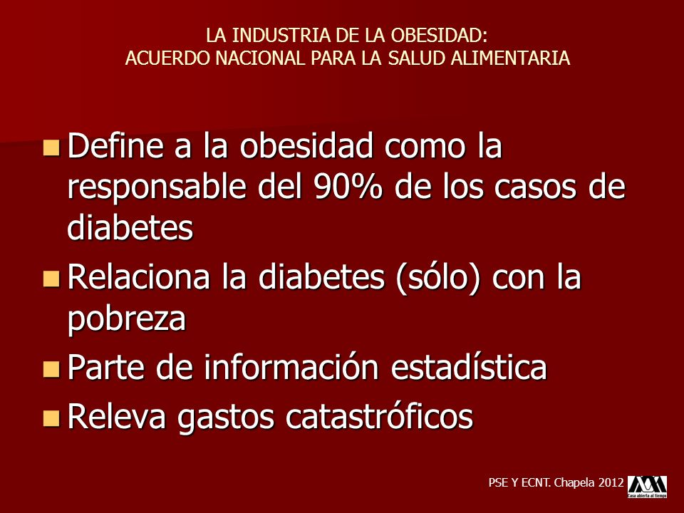 Define a la obesidad como la responsable del 90% de los casos de diabetes Define a la obesidad como la responsable del 90% de los casos de diabetes Re