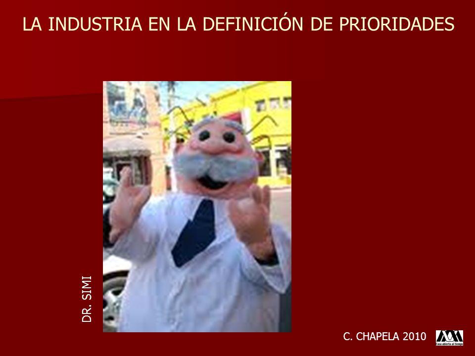 LA INDUSTRIA EN LA DEFINICIÓN DE PRIORIDADES C. CHAPELA 2010 DR. SIMI