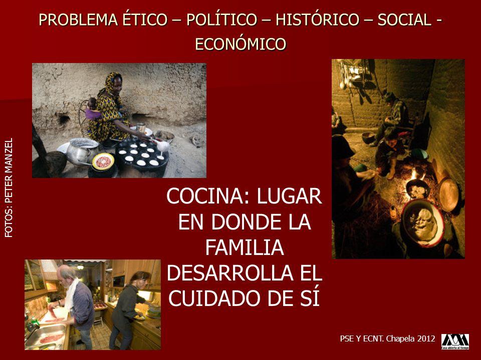 PROBLEMA ÉTICO – POLÍTICO – HISTÓRICO – SOCIAL - ECONÓMICO PSE Y ECNT. Chapela 2012 COCINA: LUGAR EN DONDE LA FAMILIA DESARROLLA EL CUIDADO DE SÍ FOTO