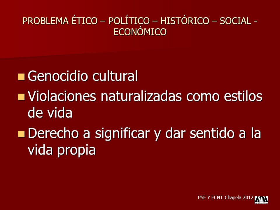 Genocidio cultural Genocidio cultural Violaciones naturalizadas como estilos de vida Violaciones naturalizadas como estilos de vida Derecho a signific