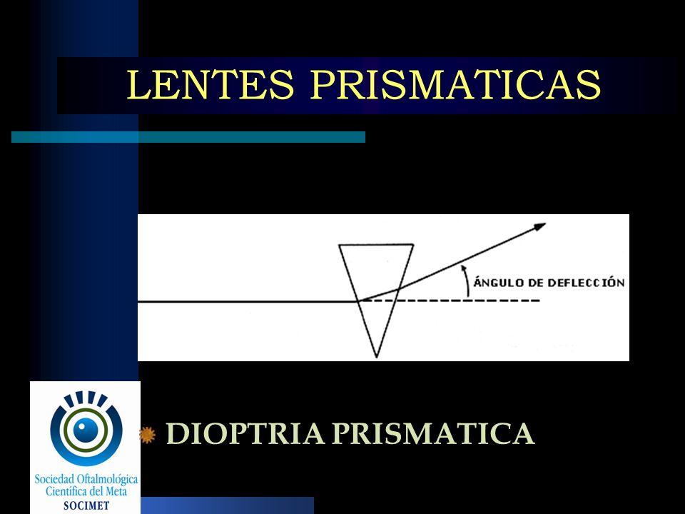 LENTES PRISMATICAS DIOPTRIA PRISMATICA