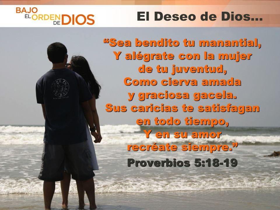© 2013 Todos los derechos reservados ® Bajo el Orden de Dios es una marca registrada El Deseo de Dios… Sea bendito tu manantial, Y alégrate con la muj