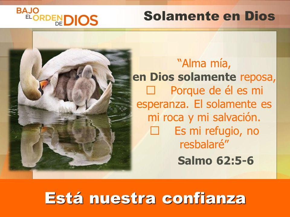 © 2013 Todos los derechos reservados ® Bajo el Orden de Dios es una marca registrada Solamente en Dios Alma mía, en Dios solamente reposa, Porque de é