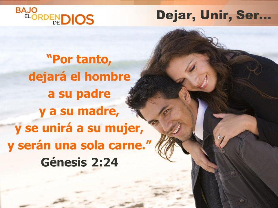 © 2013 Todos los derechos reservados ® Bajo el Orden de Dios es una marca registrada Dejar, Unir, Ser… Por tanto, dejará el hombre a su padre y a su m