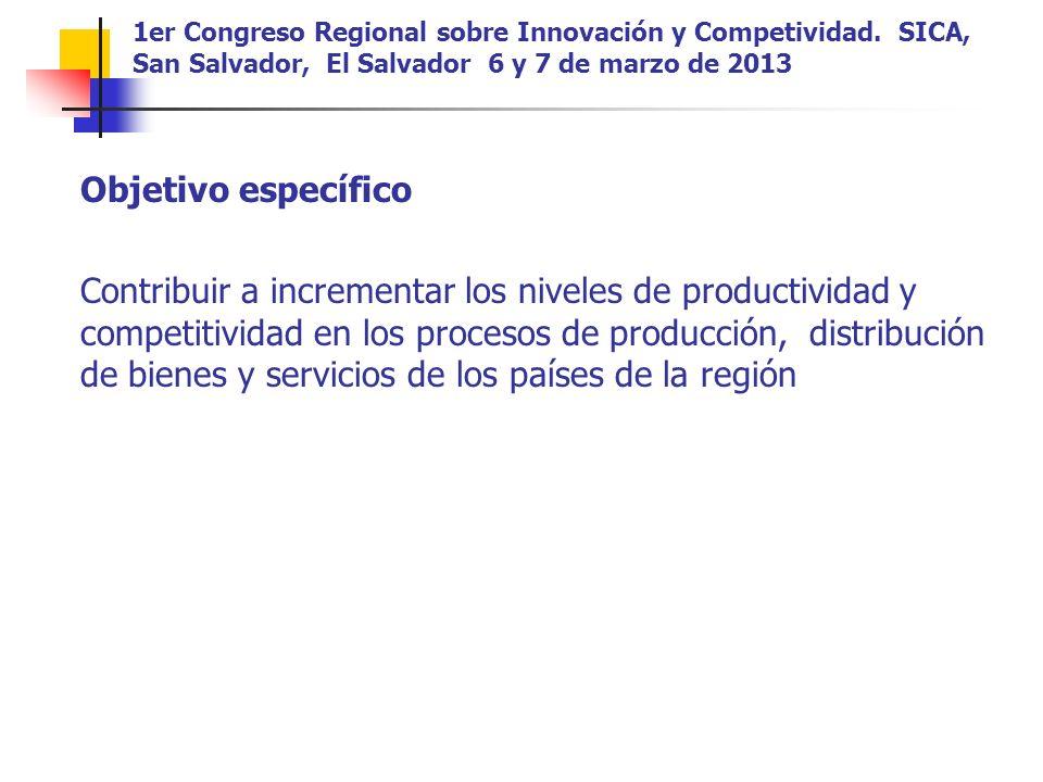 1er Congreso Regional sobre Innovación y Competividad.