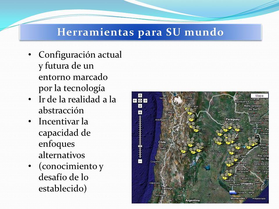 Configuración actual y futura de un entorno marcado por la tecnología Ir de la realidad a la abstracción Incentivar la capacidad de enfoques alternati
