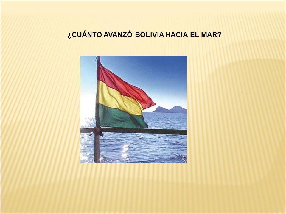 ¿CUÁNTO AVANZÓ BOLIVIA HACIA EL MAR?
