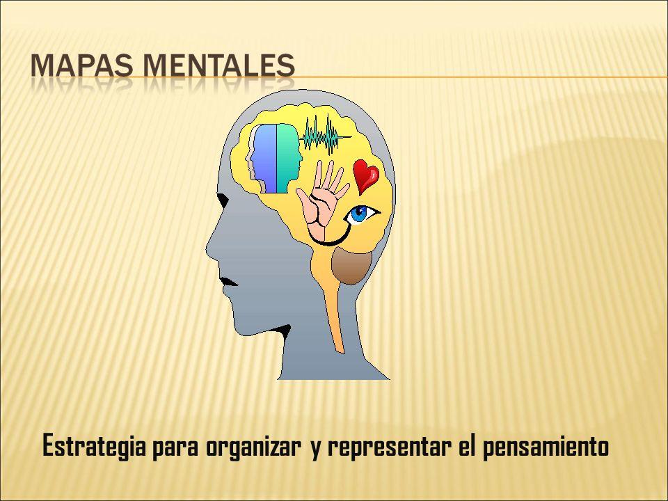 Estrategia para organizar y representar el pensamiento