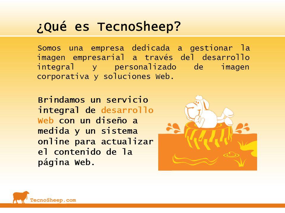 ¿Qué es TecnoSheep? Somos una empresa dedicada a gestionar la imagen empresarial a través del desarrollo integral y personalizado de imagen corporativ