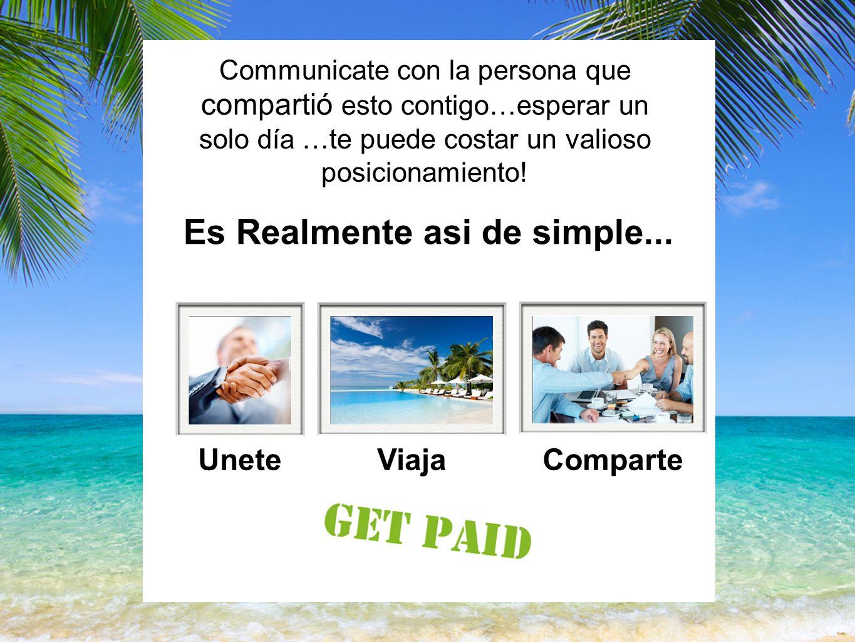 Communicate con la persona que compartió esto contigo…esperar un solo día …te puede costar un valioso posicionamiento.