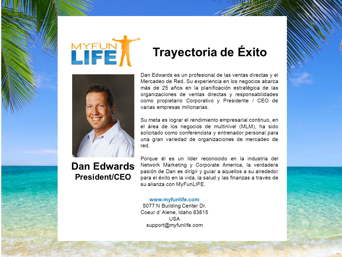 Trayectoria de Exito Dan is an accomplished professional Direct Sales & Marketing.