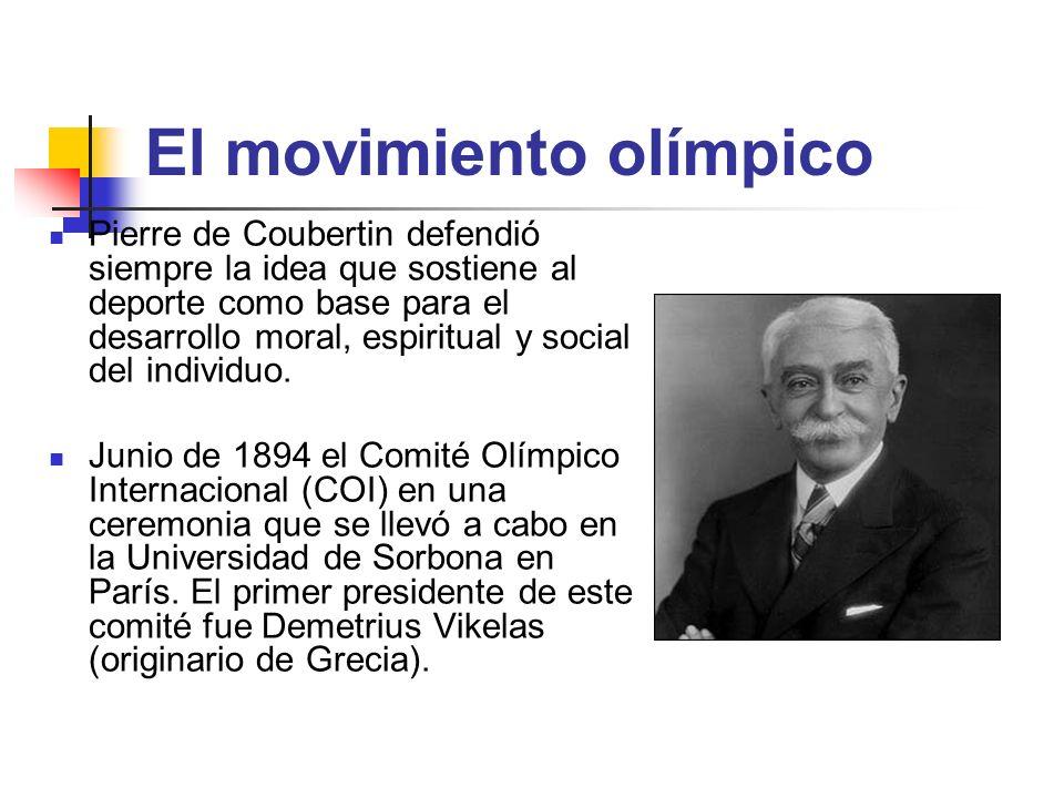 El movimiento olímpico Pierre de Coubertin defendió siempre la idea que sostiene al deporte como base para el desarrollo moral, espiritual y social de