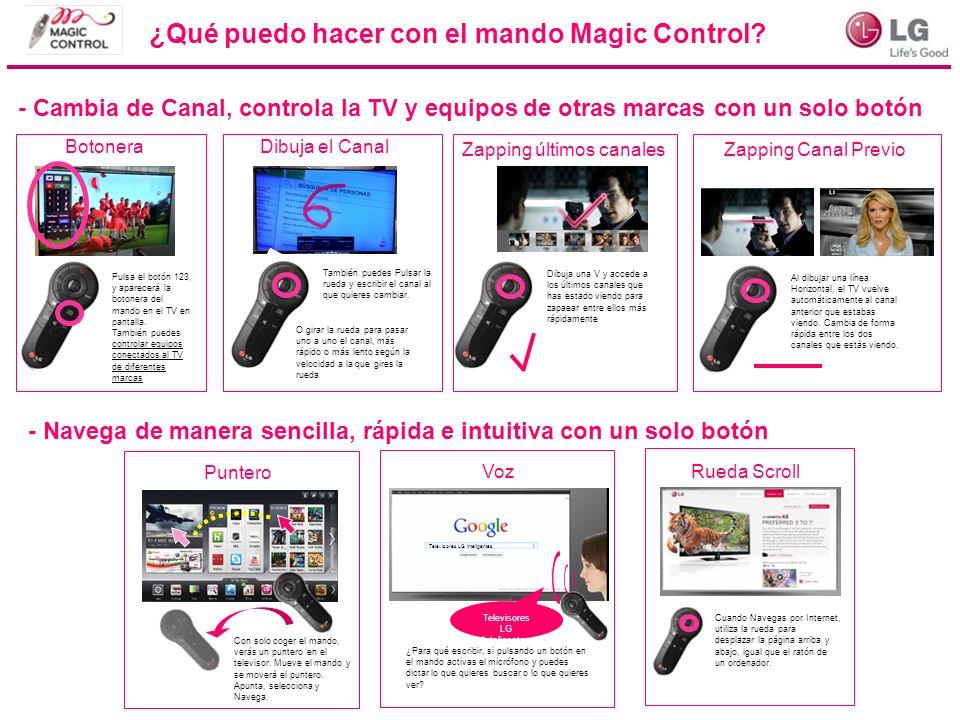 Pulsa el botón 123, y aparecerá la botonera del mando en el TV en pantalla. También puedes controlar equipos conectados al TV de diferentes marcas ¿Qu