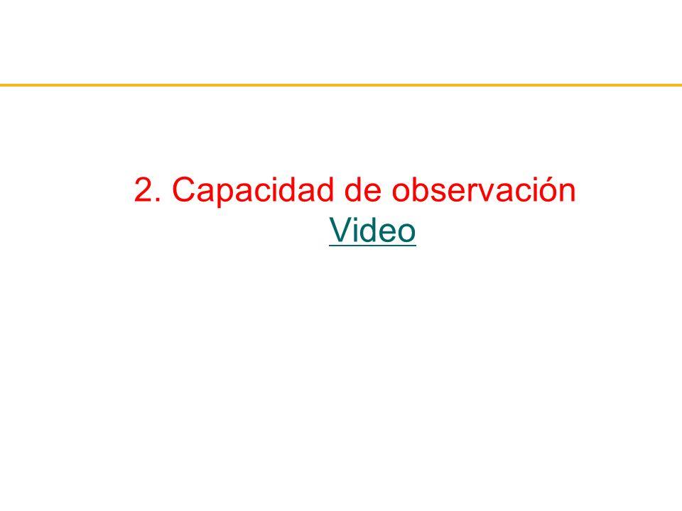 2. Capacidad de observación Video Video