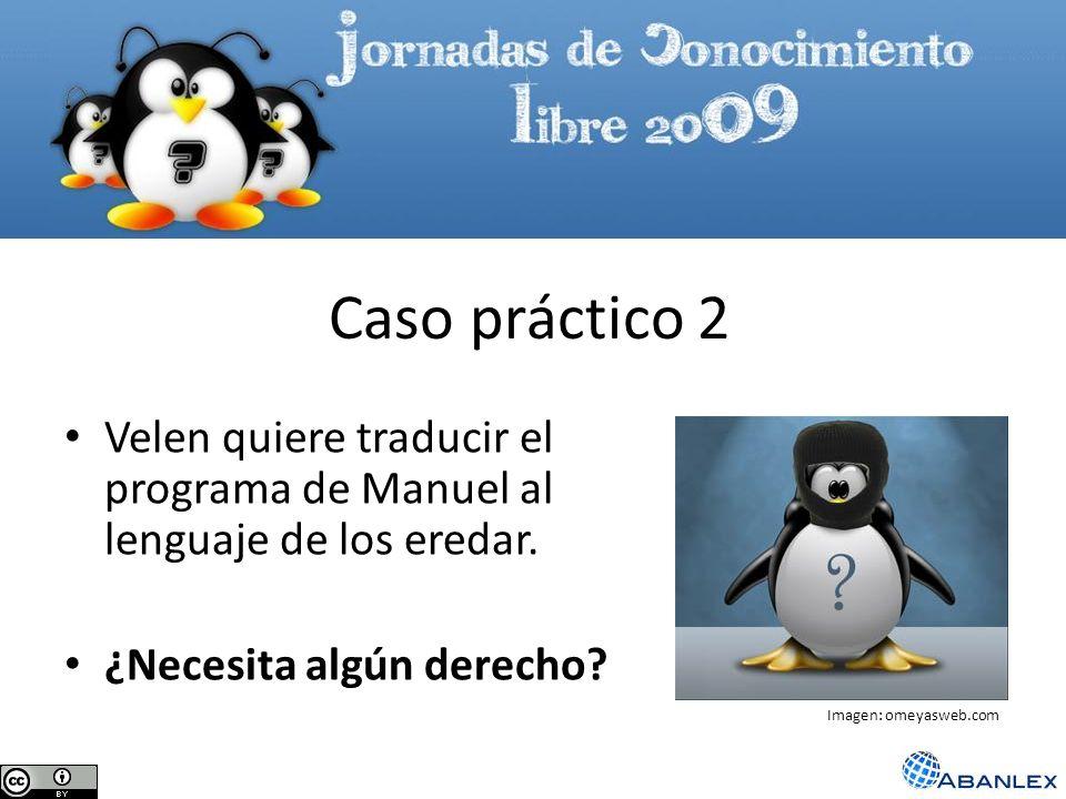 Velen quiere traducir el programa de Manuel al lenguaje de los eredar. ¿Necesita algún derecho? Caso práctico 2 Imagen: omeyasweb.com