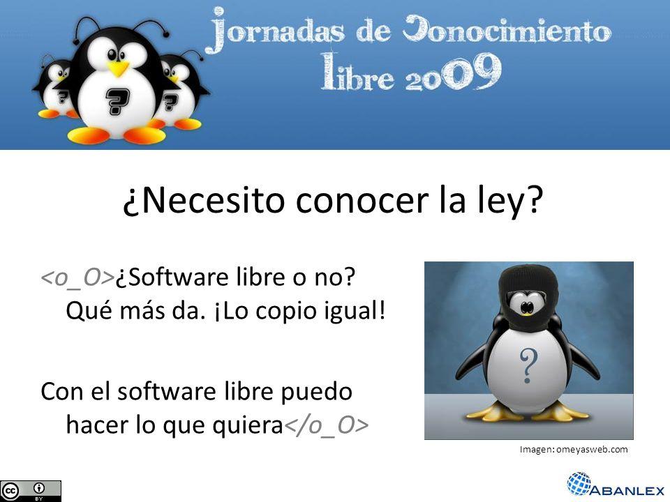 ¿Software libre o no? Qué más da. ¡Lo copio igual! Con el software libre puedo hacer lo que quiera ¿Necesito conocer la ley? Imagen: omeyasweb.com