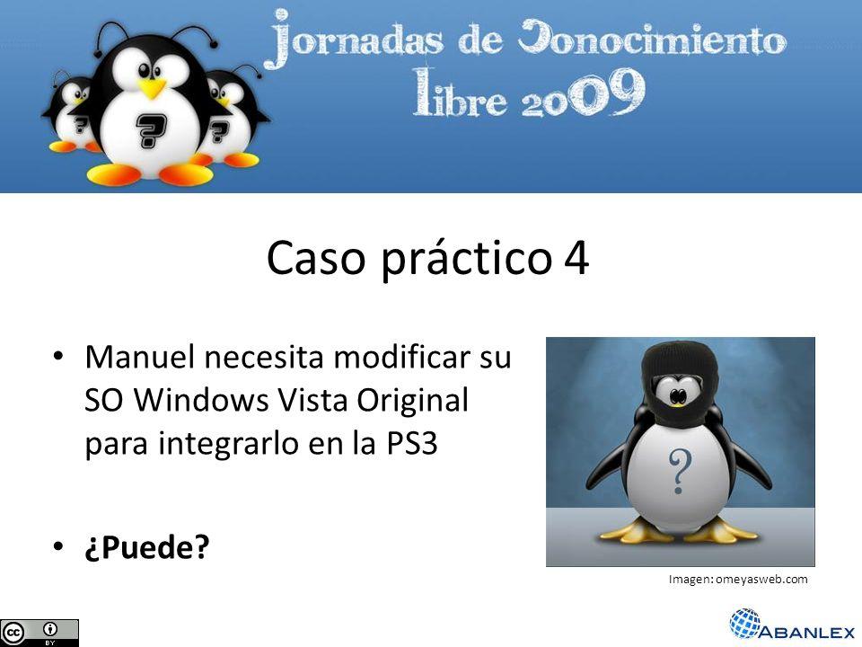 Manuel necesita modificar su SO Windows Vista Original para integrarlo en la PS3 ¿Puede? Caso práctico 4 Imagen: omeyasweb.com
