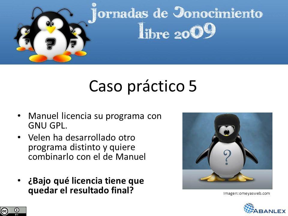 Manuel licencia su programa con GNU GPL. Velen ha desarrollado otro programa distinto y quiere combinarlo con el de Manuel ¿Bajo qué licencia tiene qu
