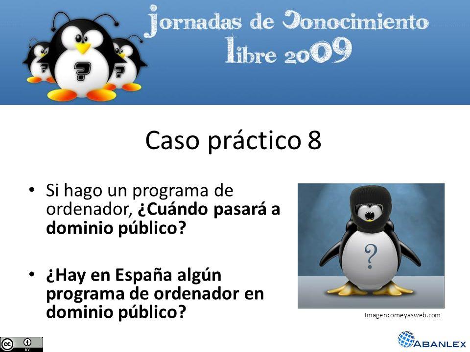 Si hago un programa de ordenador, ¿Cuándo pasará a dominio público? ¿Hay en España algún programa de ordenador en dominio público? Caso práctico 8 Ima