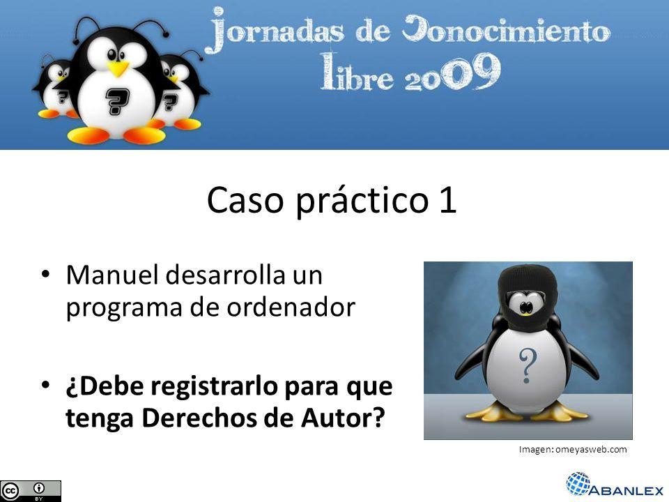 Manuel desarrolla un programa de ordenador ¿Debe registrarlo para que tenga Derechos de Autor? Caso práctico 1 Imagen: omeyasweb.com
