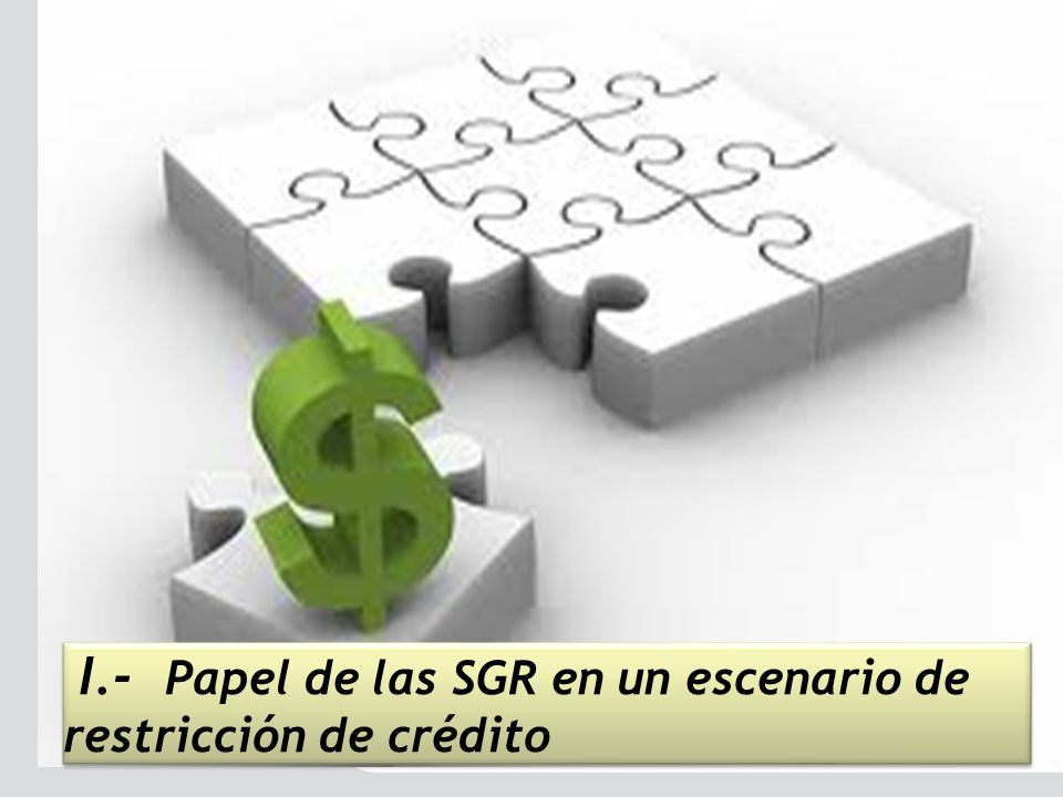 I.- Papel de las SGR en un escenario de restricción de crédito