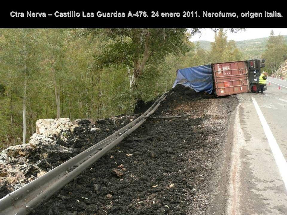 Ctra Nerva – Castillo Las Guardas A-476. 24 enero 2011. Nerofumo, origen Italia.