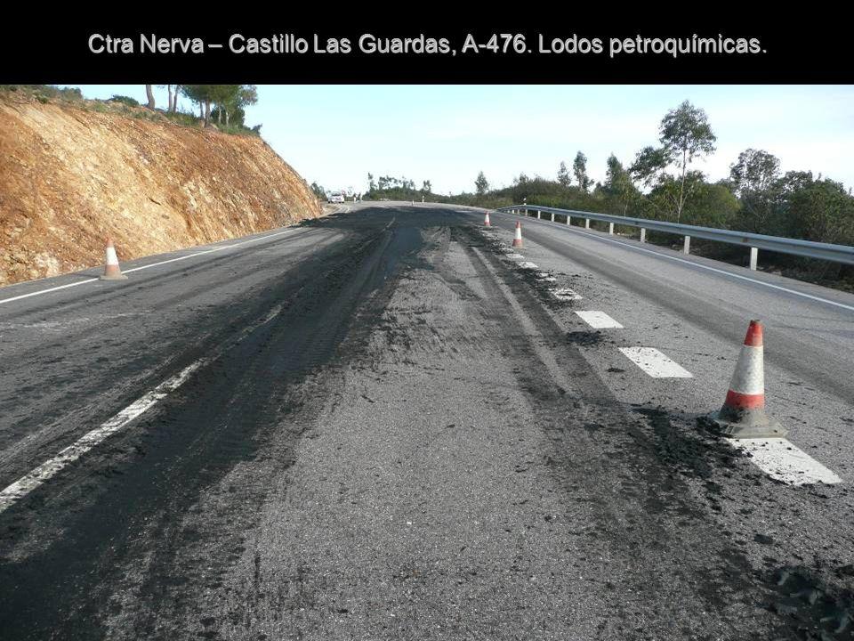 Ctra. A-476. Accidente cercano al centro escolar de Minas de Río Tinto.