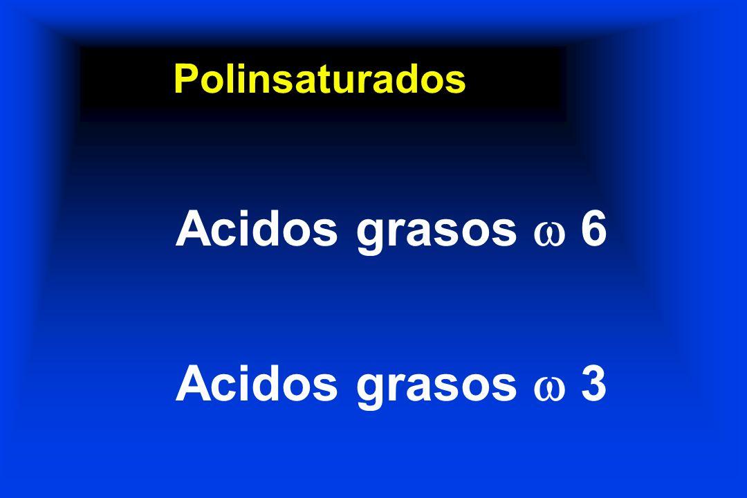 Polinsaturados Acidos grasos 6 Acidos grasos 3