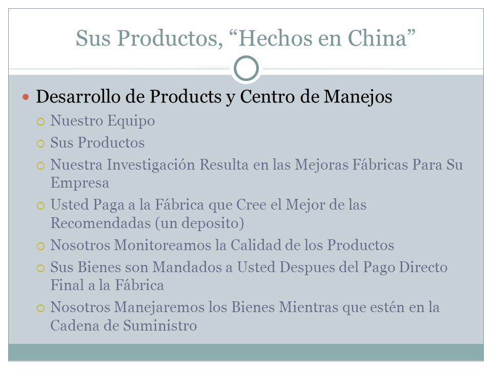 Sus Productos, Hechos en China Desarrollo de Products y Centro de Manejos Nuestro Equipo Sus Productos Nuestra Investigación Resulta en las Mejoras Fá