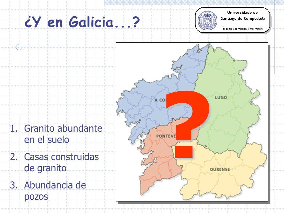 ¿Y en Galicia...? 404 domicilios 25% concentraciones superiores a las recomendadas EPA ESTUDIO PREVIO