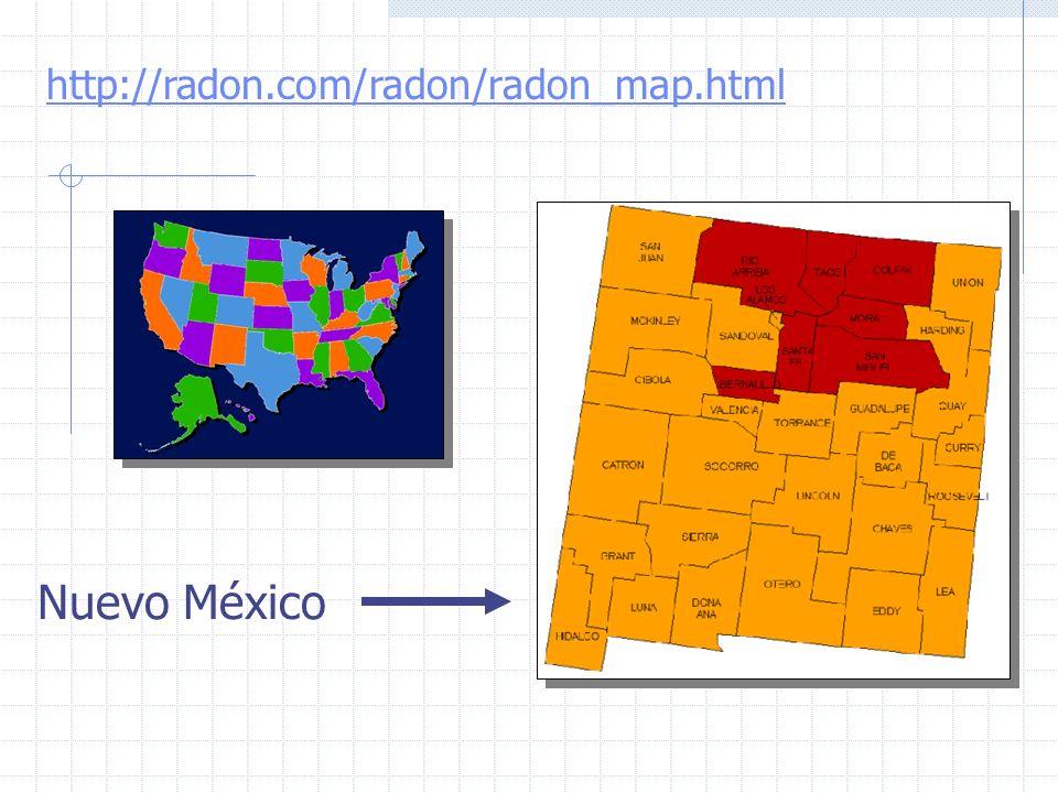 Objetivos 1.Conocer las concentraciones de radón en los domicilios gallegos.