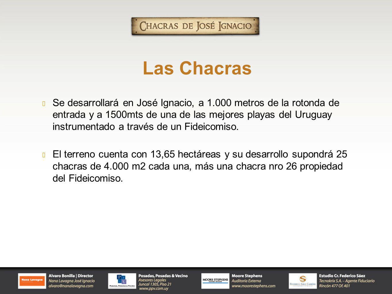 Se desarrollará en José Ignacio, a 1.000 metros de la rotonda de entrada y a 1500mts de una de las mejores playas del Uruguay instrumentado a través d