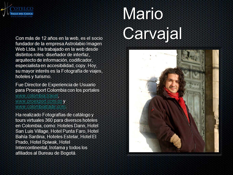 Mario Carvajal Con más de 12 años en la web, es el socio fundador de la empresa Astrolabio Imagen Web Ltda. Ha trabajado en la web desde distintos rol