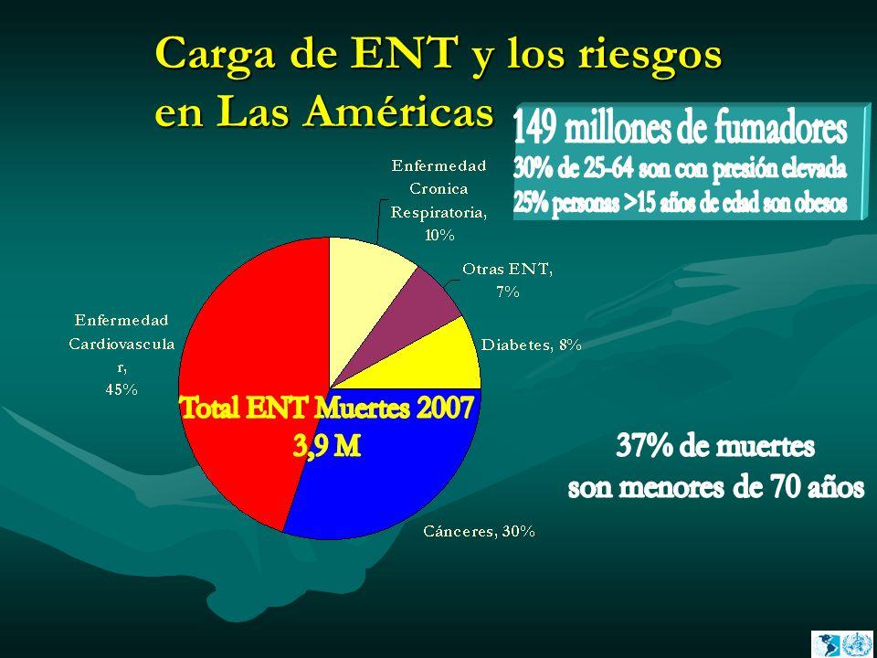 Carga de ENT y los riesgos en Las Américas