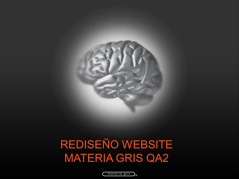 REDISEÑO WEBSITE MATERIA GRIS QA2