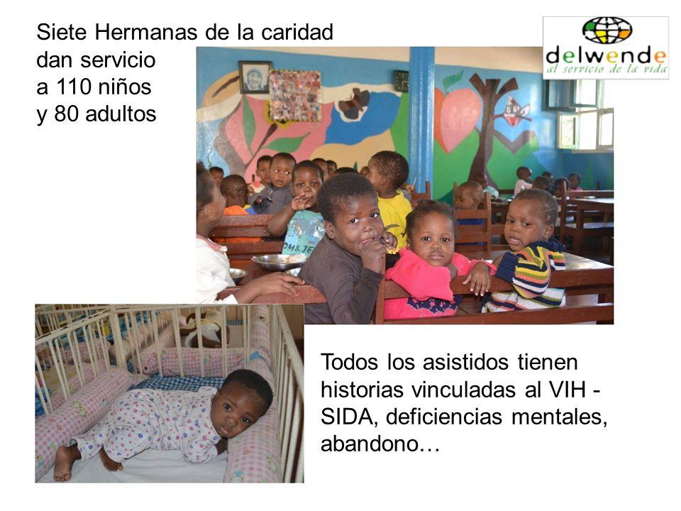 Todos los asistidos tienen historias vinculadas al VIH - SIDA, deficiencias mentales, abandono… Siete Hermanas de la caridad dan servicio a 110 niños