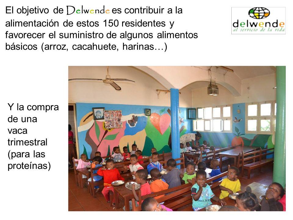 El objetivo de Delwende es contribuir a la alimentación de estos 150 residentes y favorecer el suministro de algunos alimentos básicos (arroz, cacahue