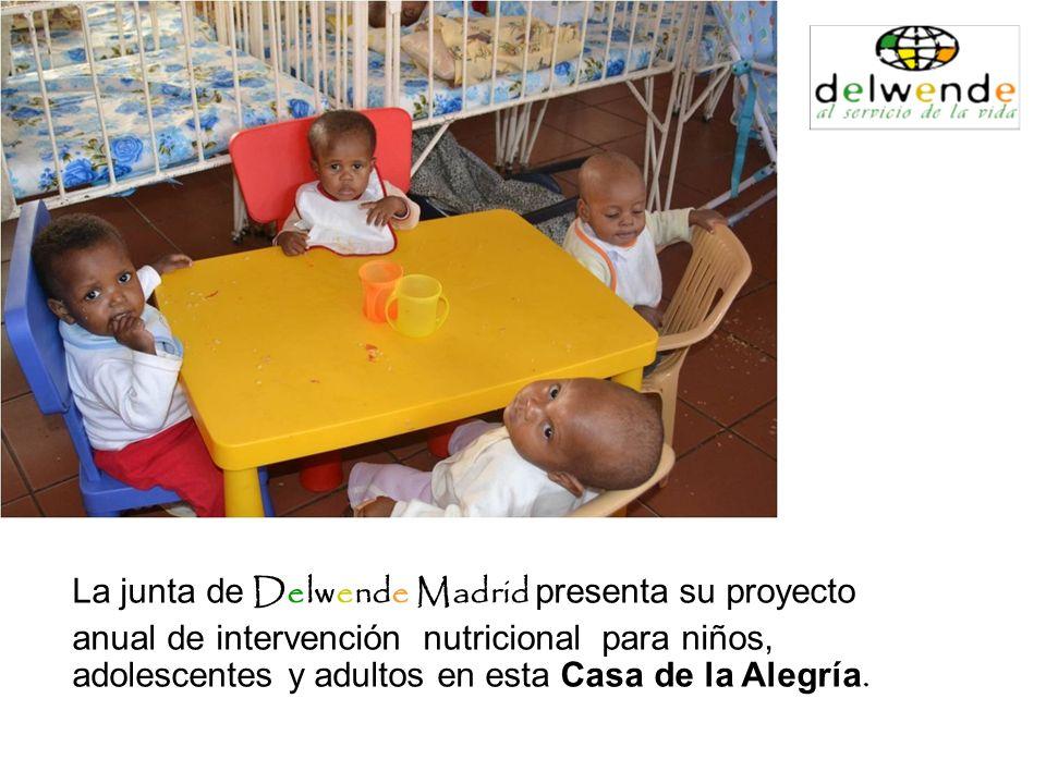 La junta de Delwende Madrid presenta su proyecto anual de intervención nutricional para niños, adolescentes y adultos en esta Casa de la Alegría.