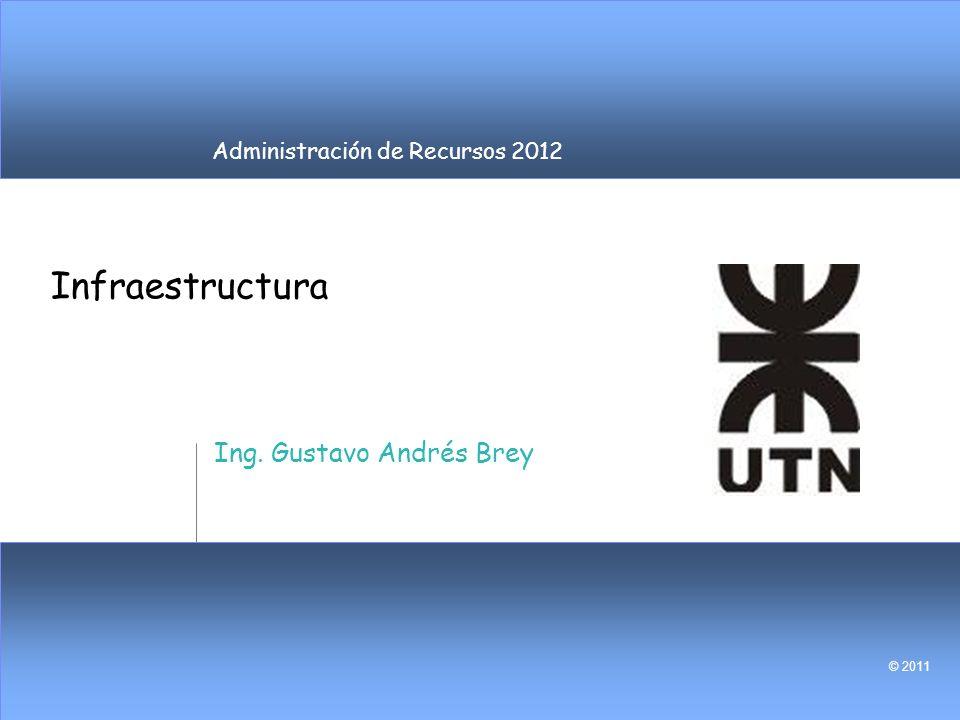 Administración de Recursos 2012 © 2011 Infraestructura Ing. Gustavo Andrés Brey