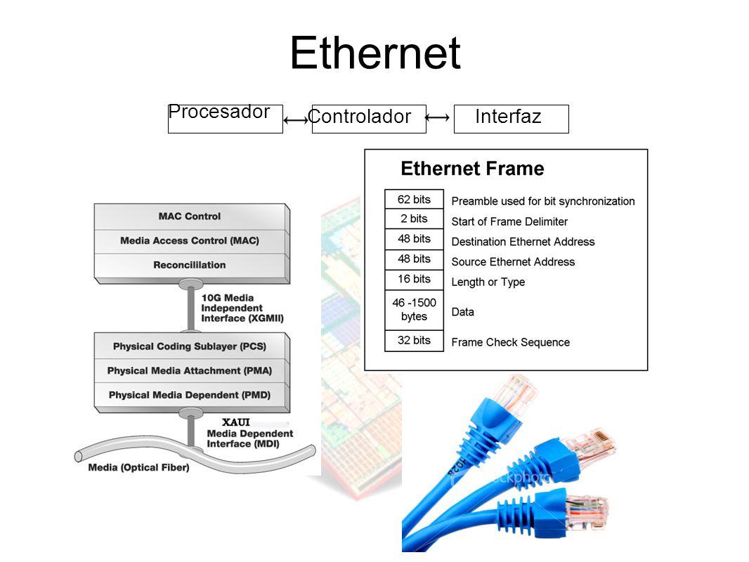 Ethernet Controlador Procesador Interfaz