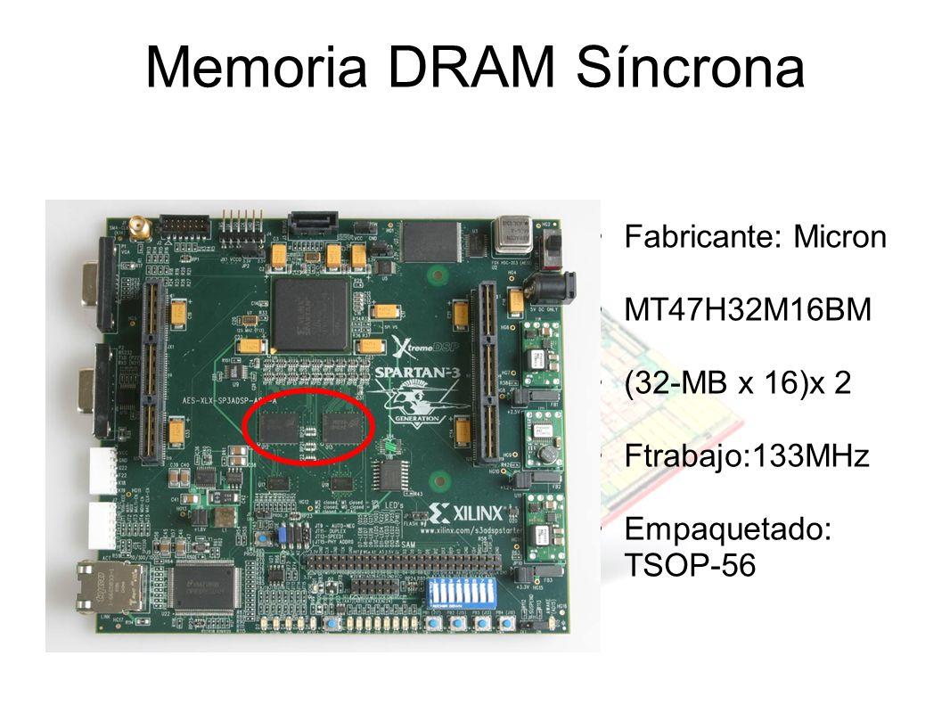 Memoria DRAM Síncrona Fabricante: Micron MT47H32M16BM (32-MB x 16)x 2 Ftrabajo:133MHz Empaquetado: TSOP-56