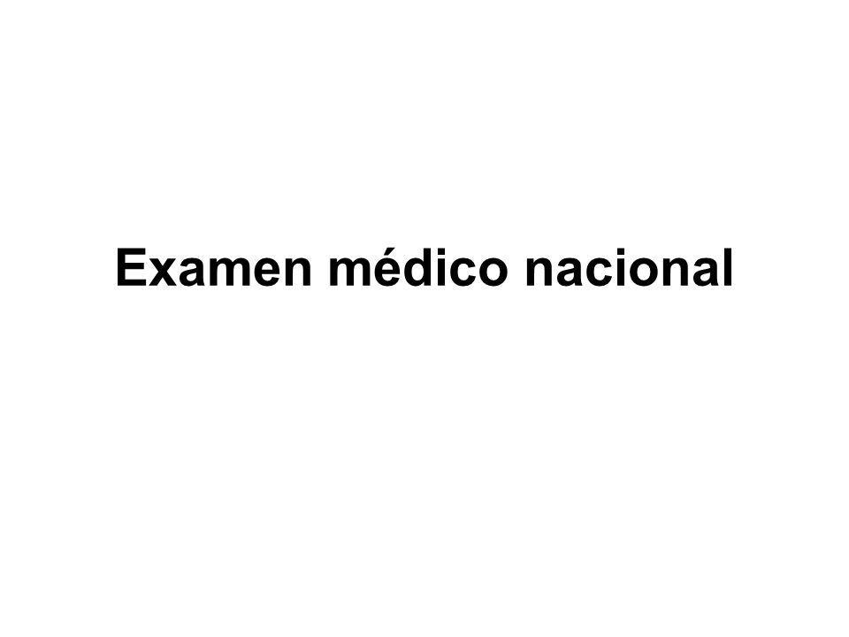 Examen médico nacional