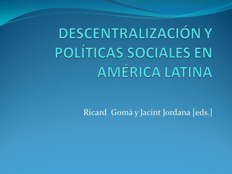 Ricard Gomà y Jacint Jordana [eds.]
