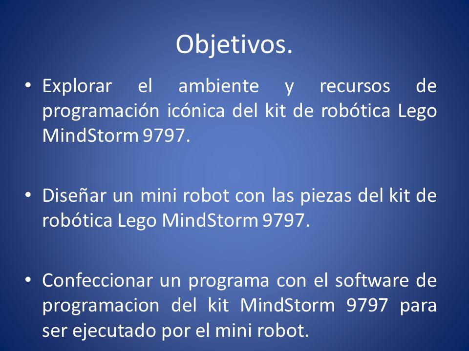 Introducción La asignatura de Avances Tecnológicos propone de manera practica adentrarnos en el mundo de la robótica; es por esto que la utilización de diferentes Kits de Lego MindStorms complementan el Aprendizaje y experimentación de este mundo.