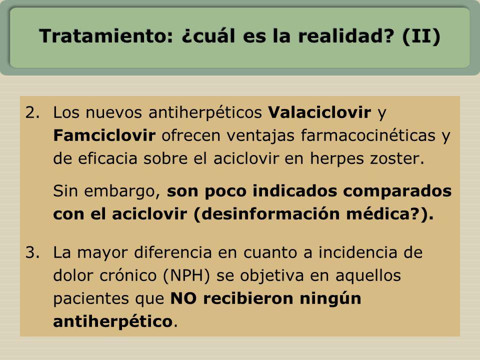 Tratamiento: ¿cuál es la realidad? (II) 2.Los nuevos antiherpéticos Valaciclovir y Famciclovir ofrecen ventajas farmacocinéticas y de eficacia sobre e