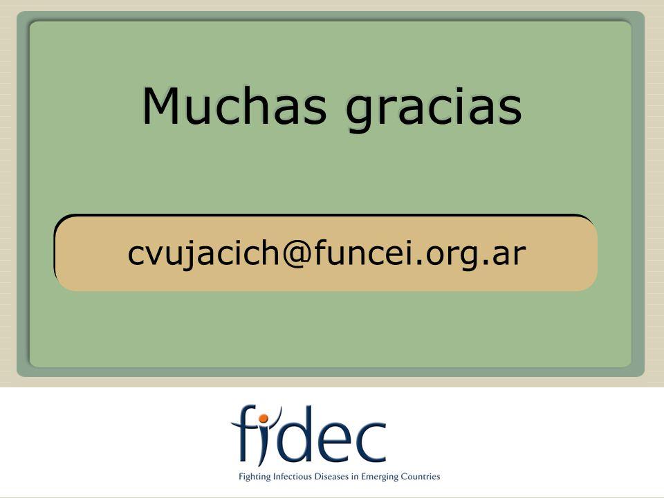 Muchas gracias USA cvujacich@funcei.org.ar