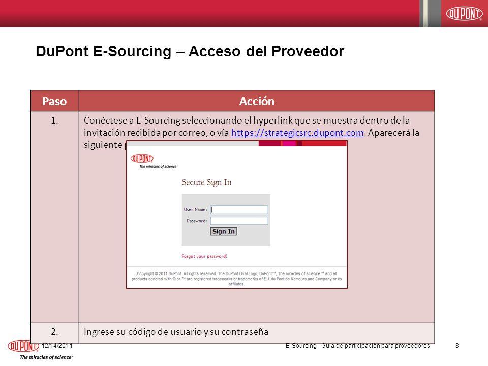 Herramientas del sistema – Monitorear las ofertas en una subasta Aquí se presenta un ejemplo de la pantalla para Monitorear una oferta.
