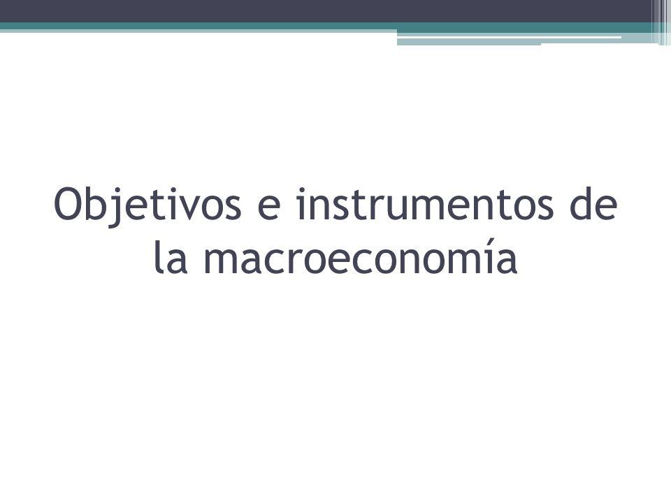 Objetivos de la política macroeconómica Los principales objetivos de la política macroeconómica están contenidos en leyes nacionales y en las formulaciones de los líderes políticos.