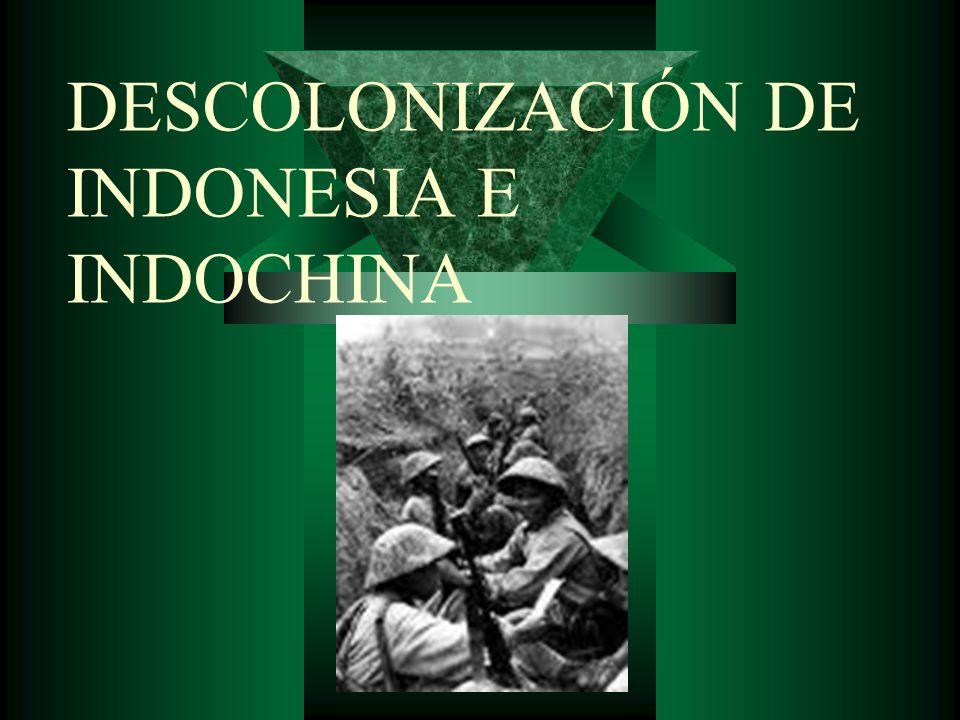 DESCOLONIZACIÓN DE INDONESIA E INDOCHINA