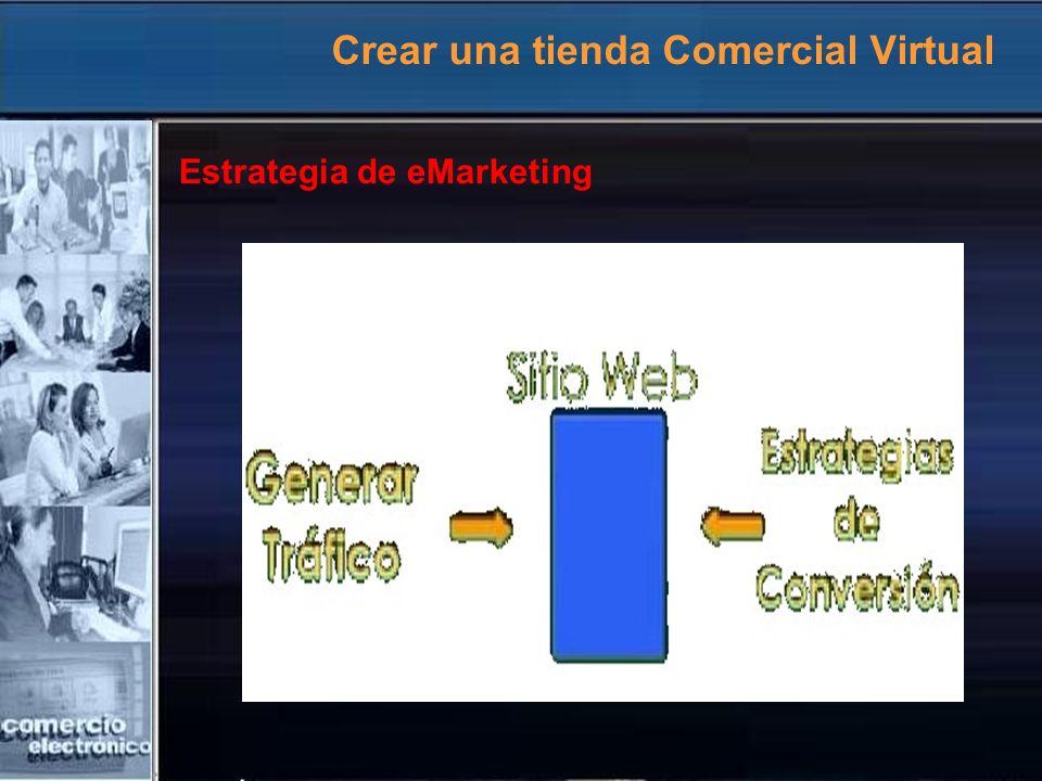 Crear una tienda Comercial Virtual Estrategia de eMarketing